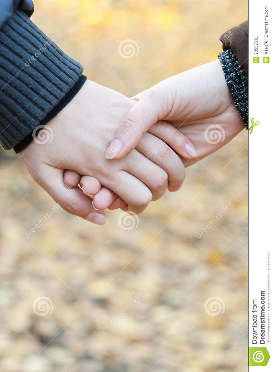 Two Girls Holding Hands Royalty Free Stock Image - Image ...