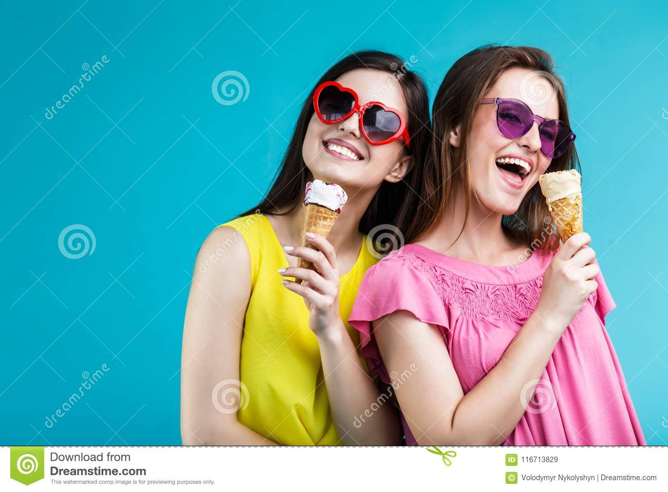 Two Girls With Icecream