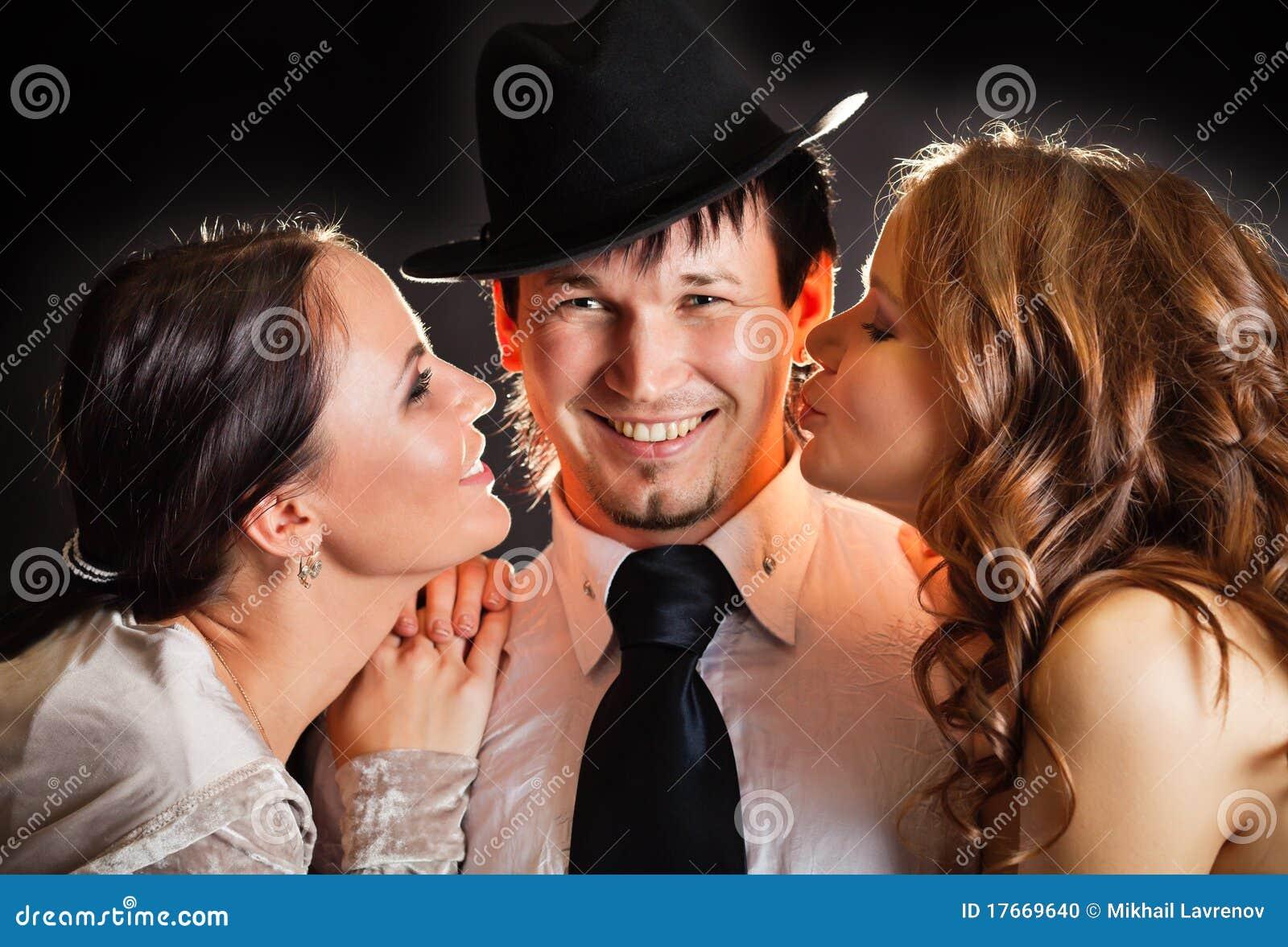 Share hot threesome 2 girls one guy
