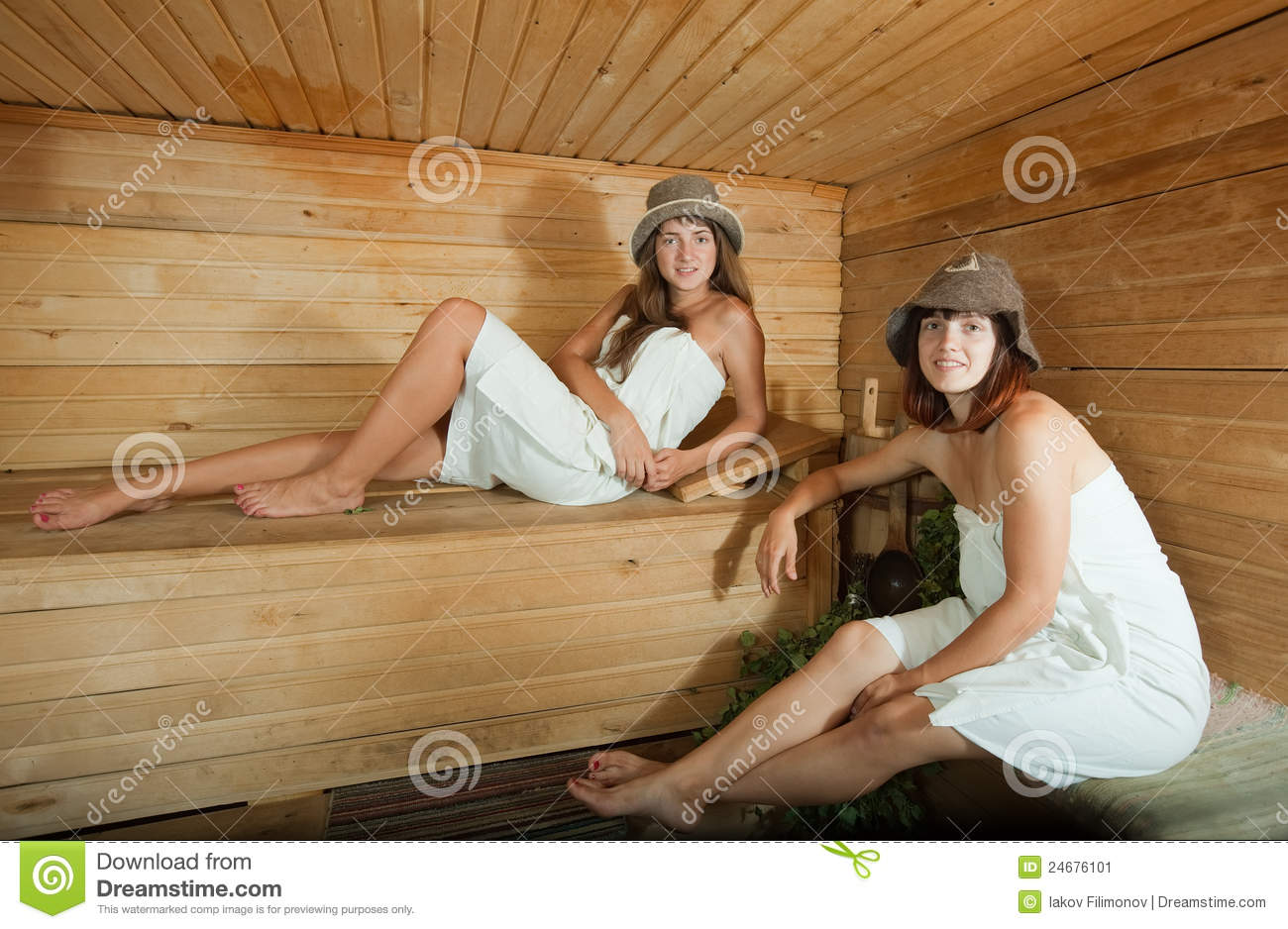 Two girls in sauna stock image. Image of friends 9eb679792