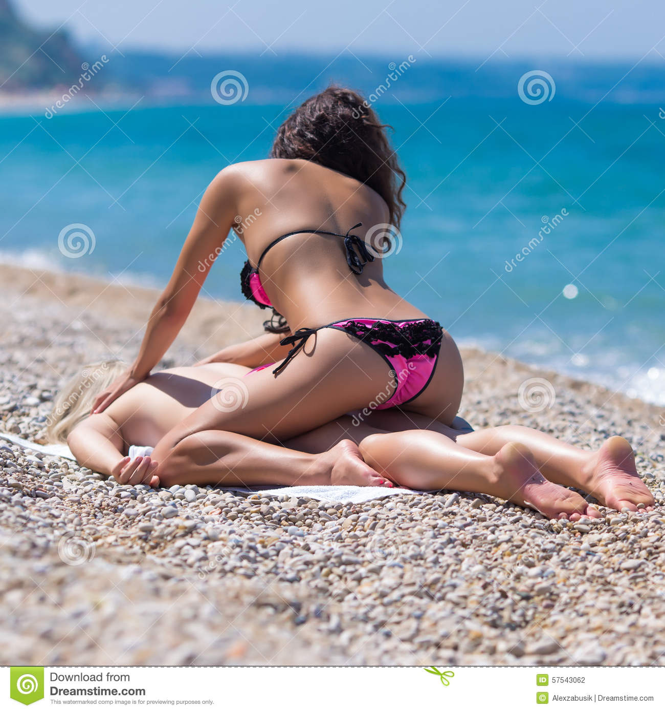 Two Girls At The Sea Stock Photo Image 57543062