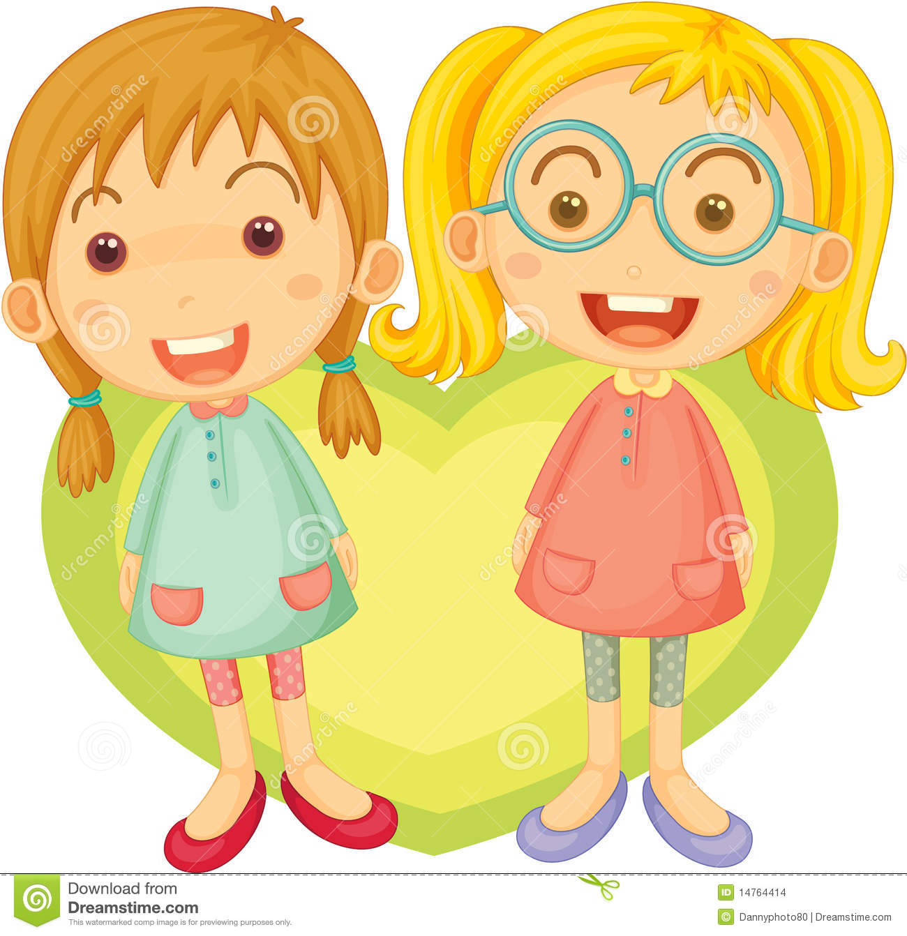 Two Girls Singing Stock Images Image 14764414