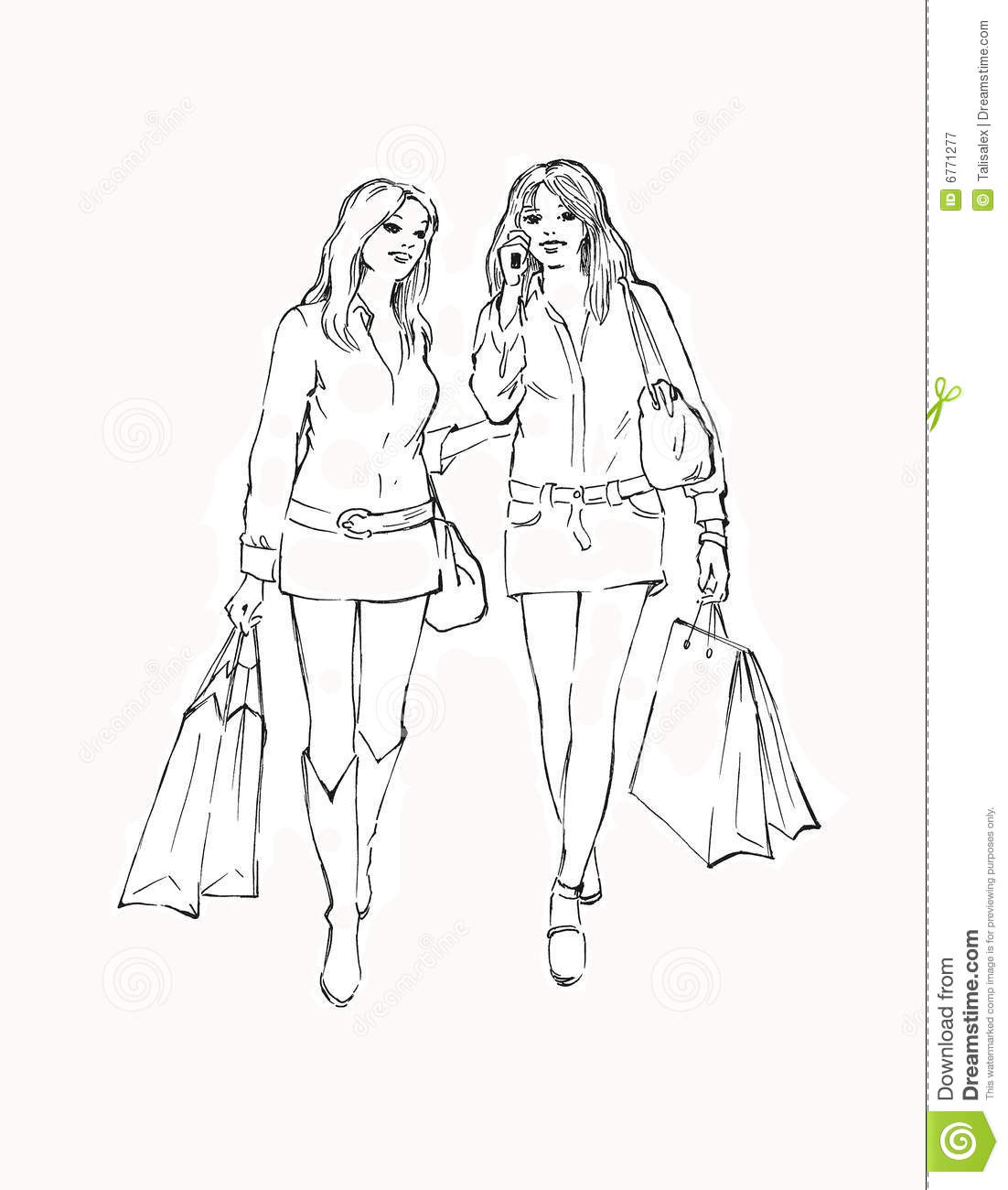 two girls in the store royalty free stock photography
