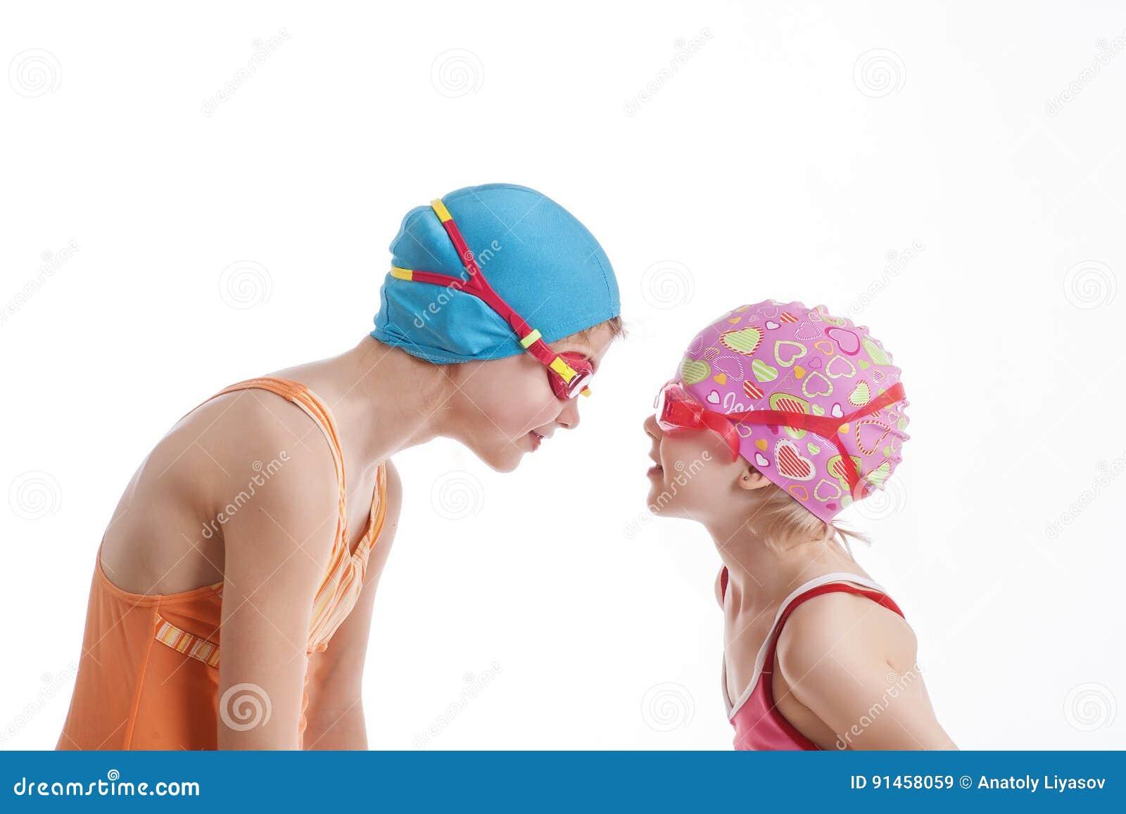 Girls Bathing Each Other