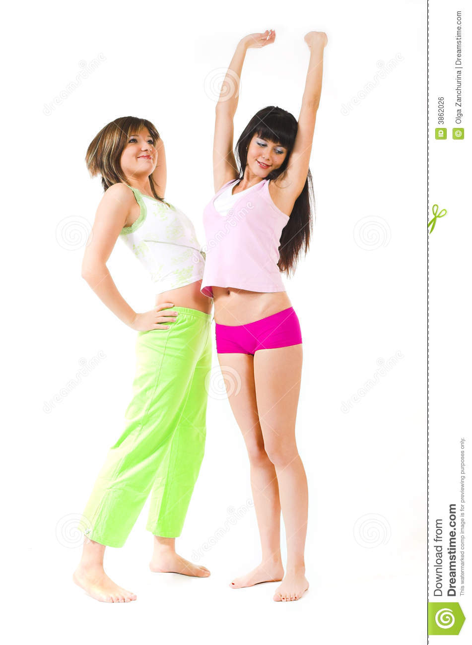 Two Girls In Underwear Royalty Free Stock Image - Image: 3862026
