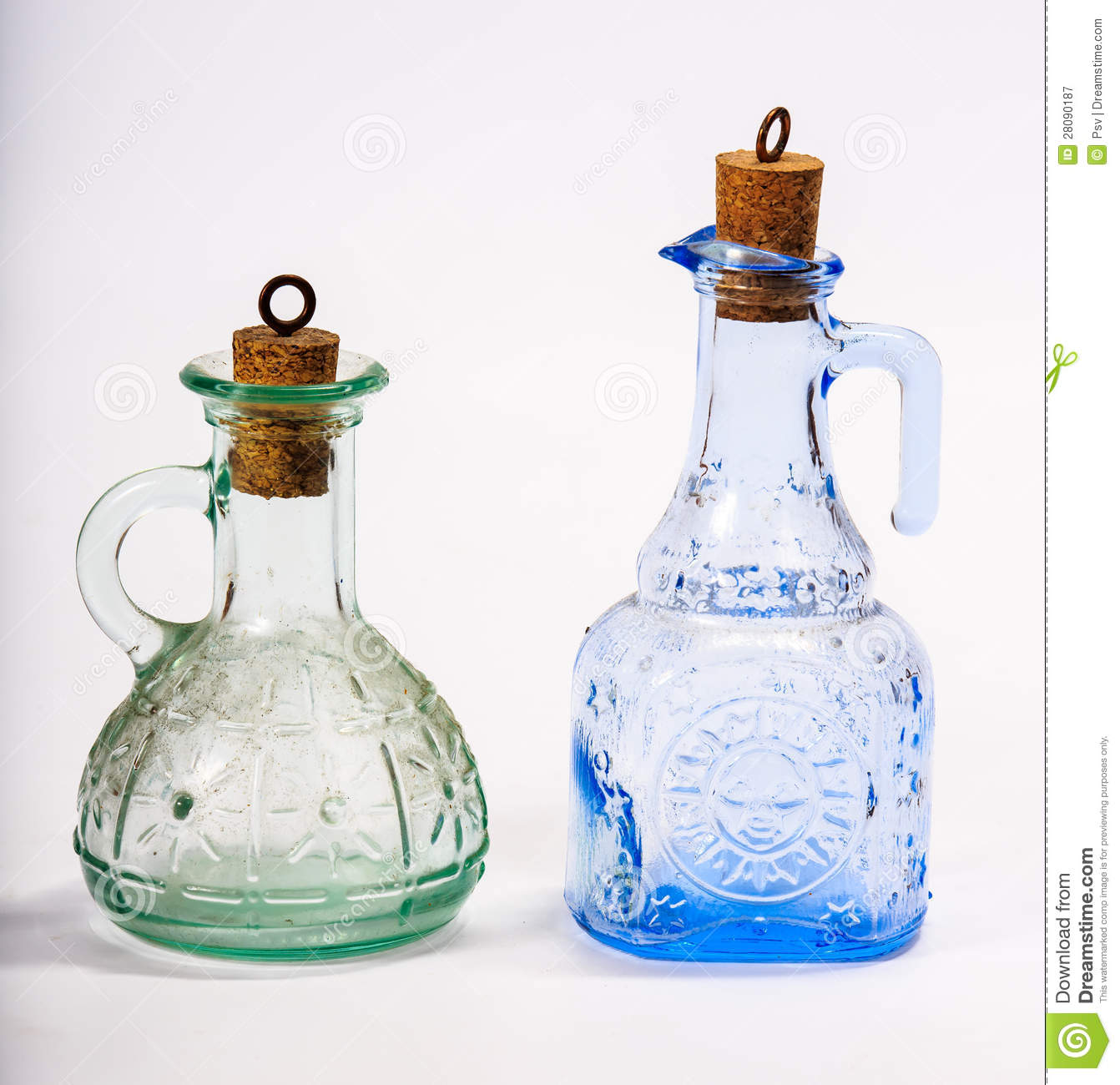Two Glass Decorative Bottle Royalty Free Stock Photography Image 28090187