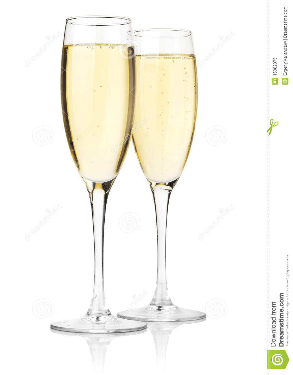 two glasses of champagne royalty free stock photo image