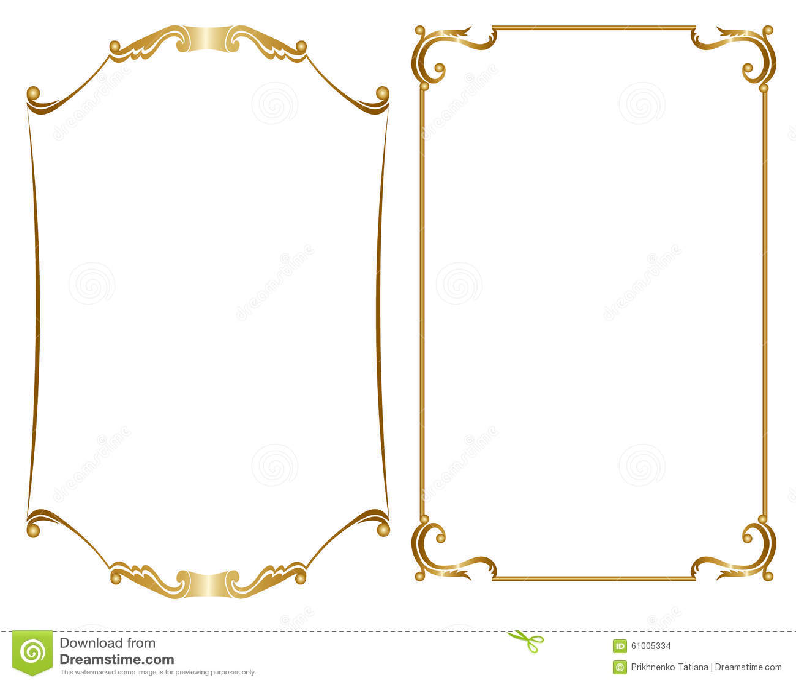 84b29637b2e Two gold frame stock vector. Illustration of artwork - 61005334