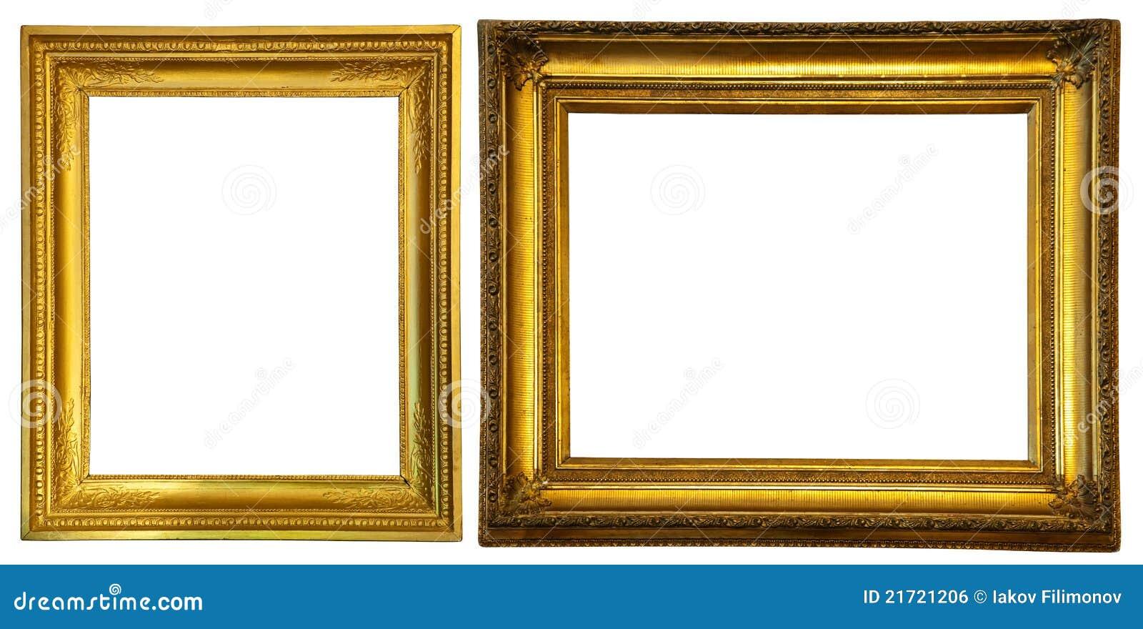 Two gold frames. stock photo. Image of framework, golden - 21721206