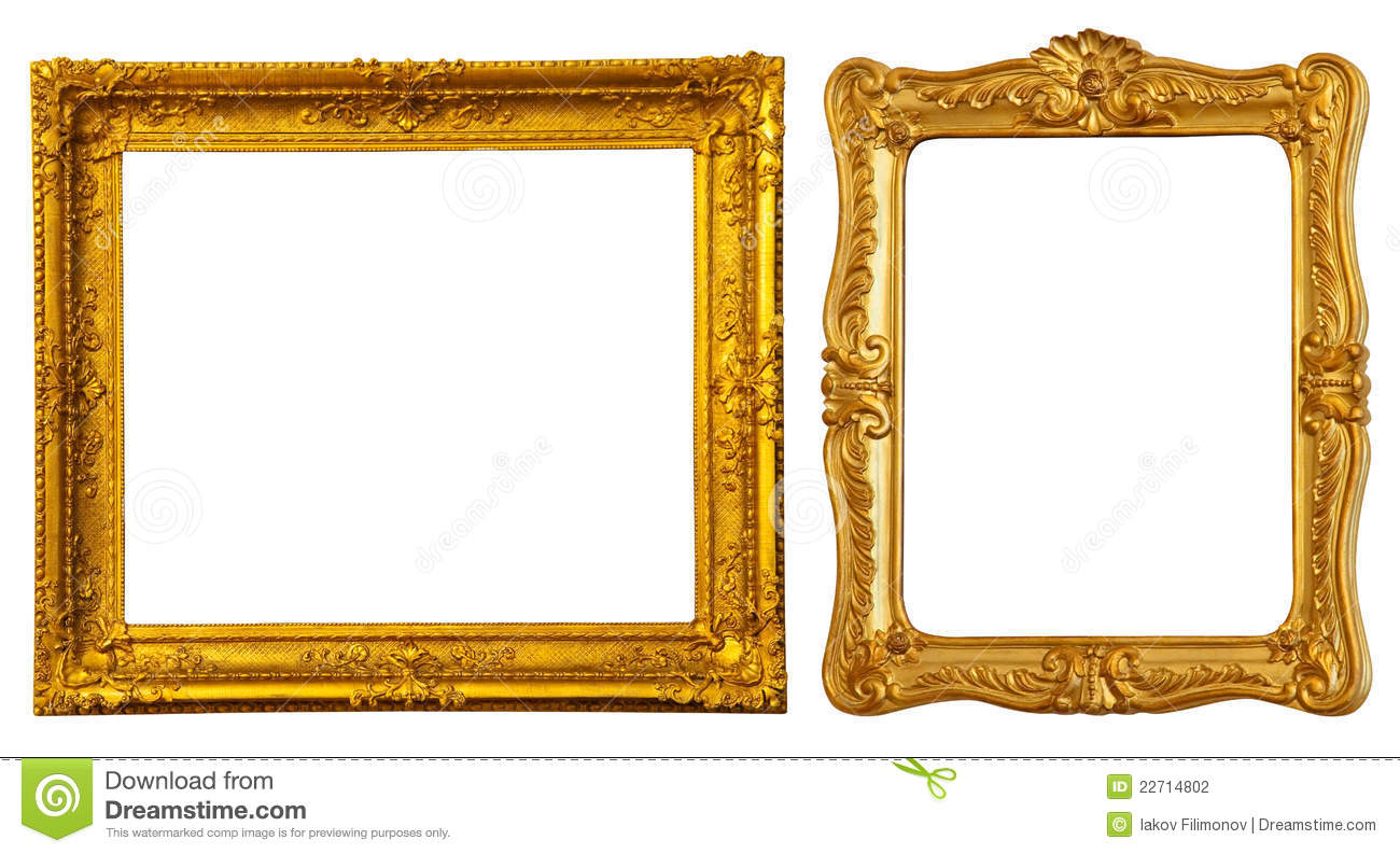 Vintage Interior Design Two Gold Frames Stock Photography Image 22714802