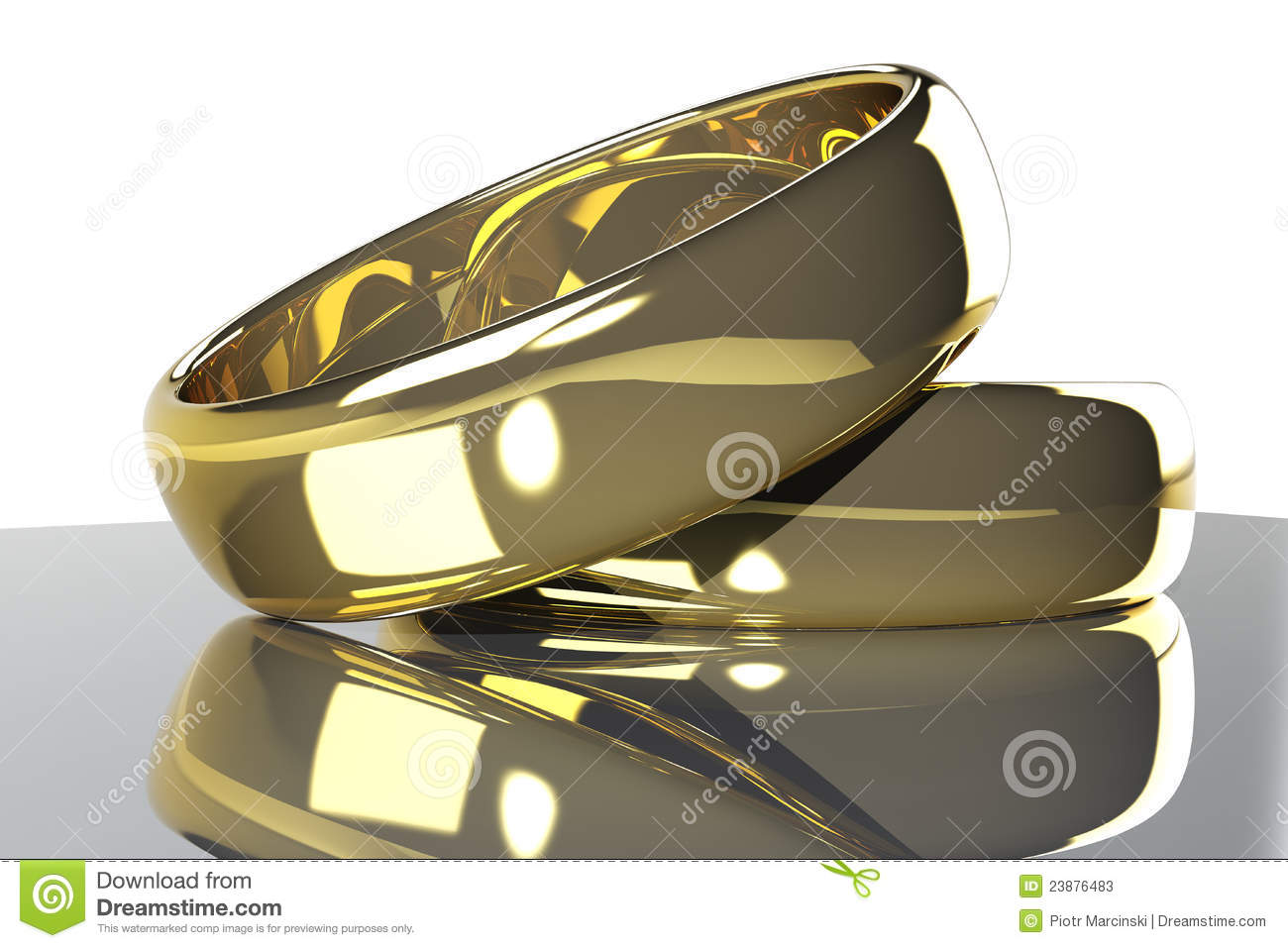 Download Two gold rings stock illustration. Illustration of objects - 23876483