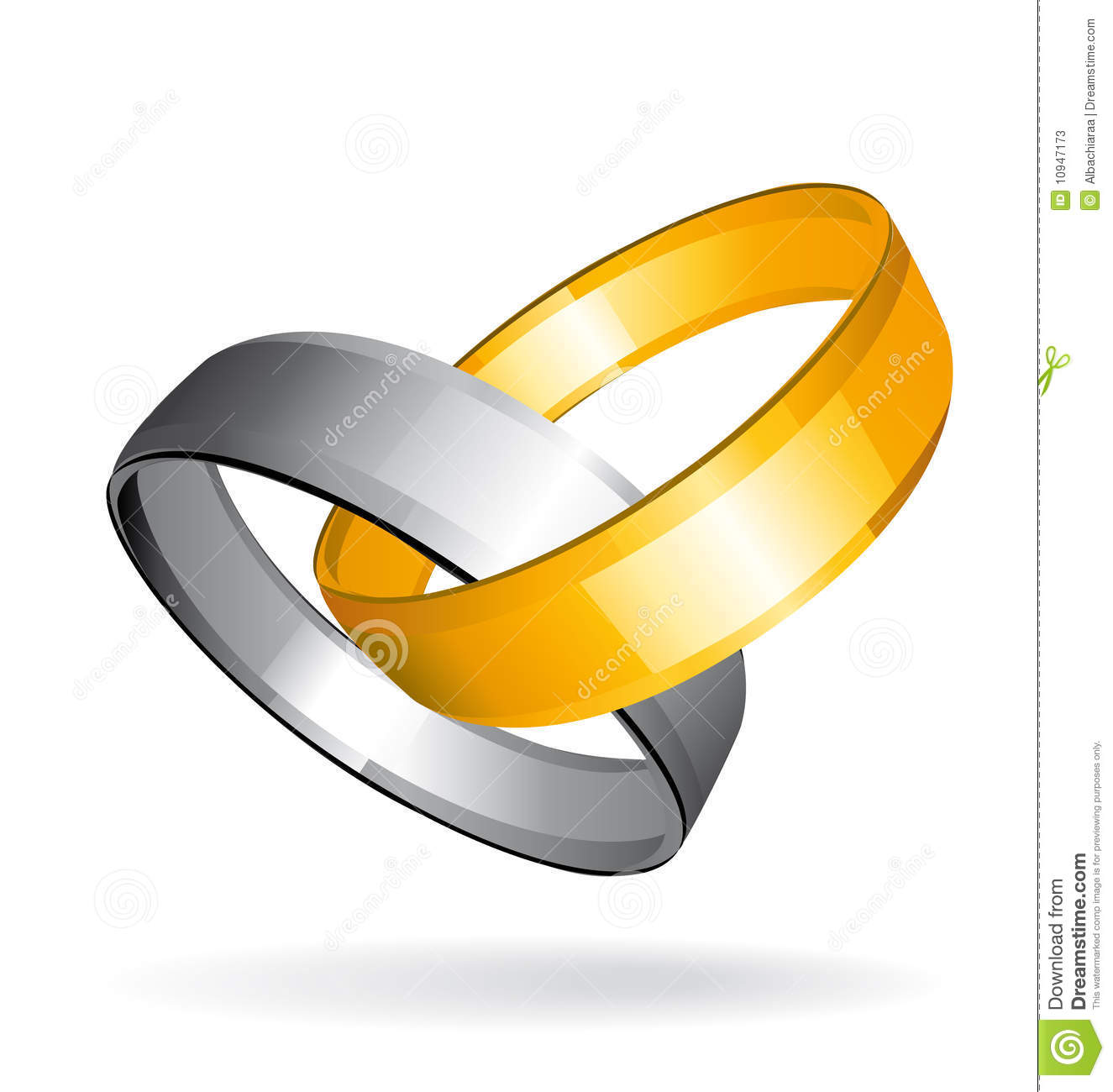 two gold and silver wedding rings - Gold And Silver Wedding Rings