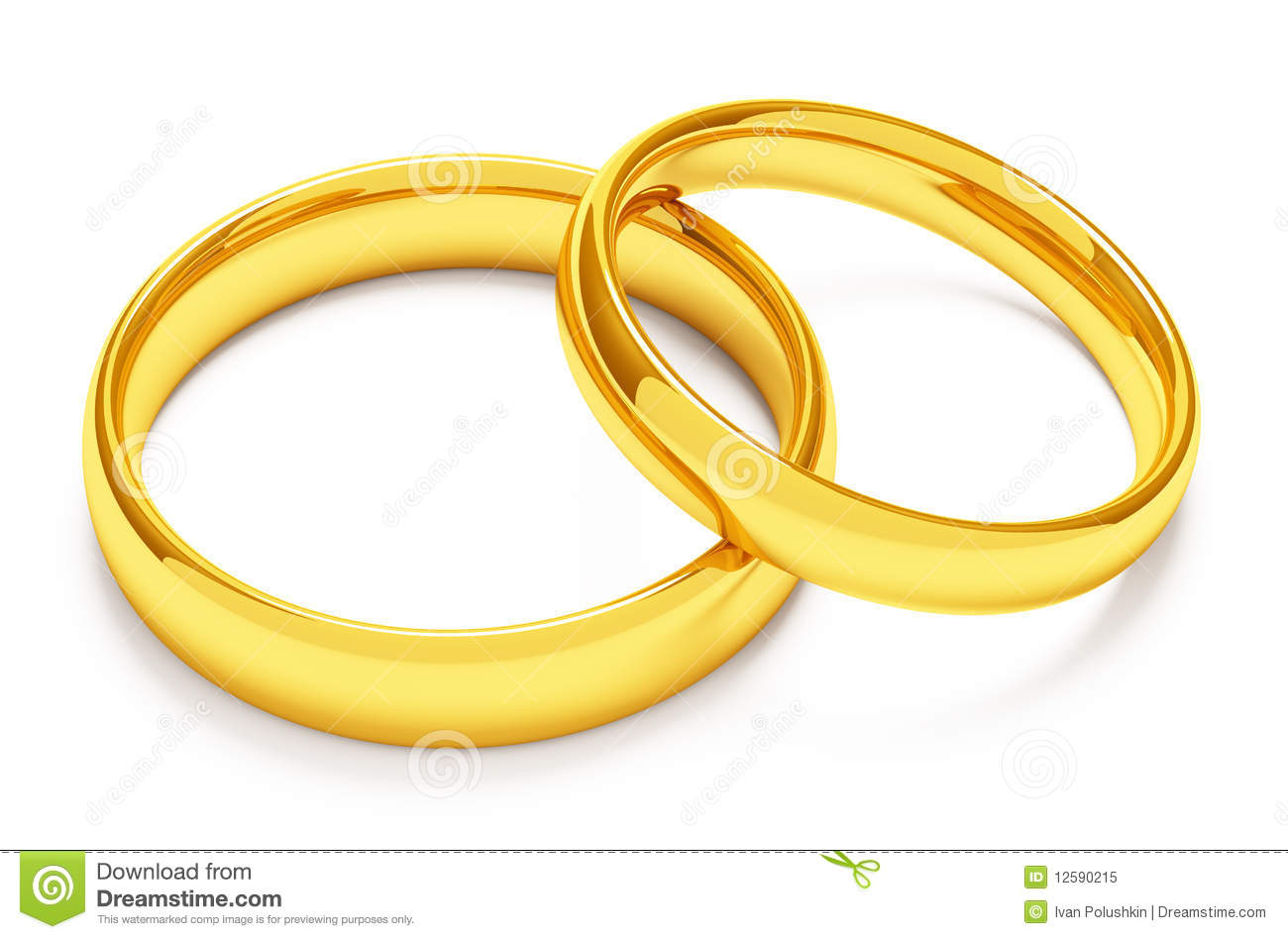 Two Gold Wedding Rings Royalty Free Stock Photo - Image: 12590215