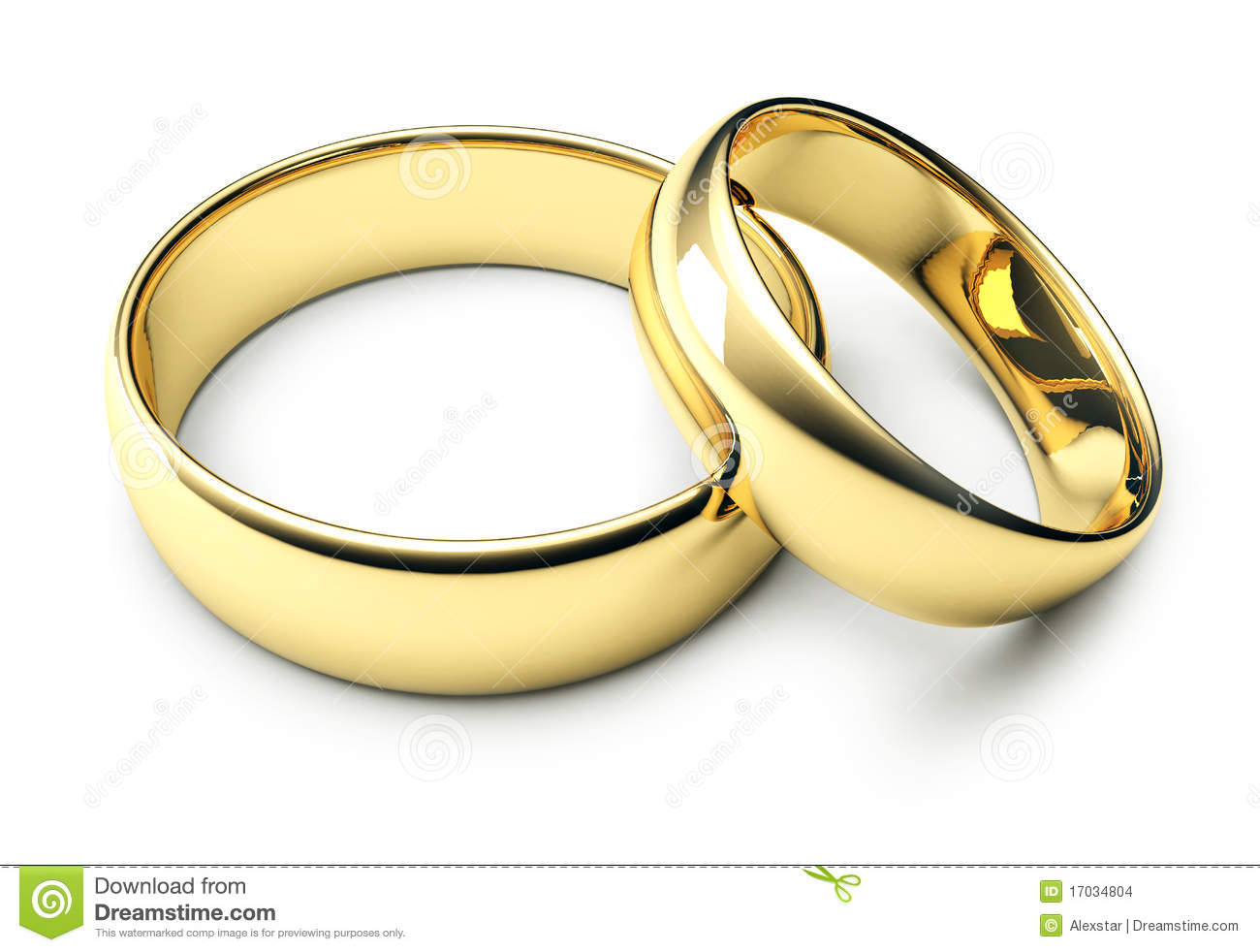 Two Gold Wedding Rings Stock Photo Image Of Ring White