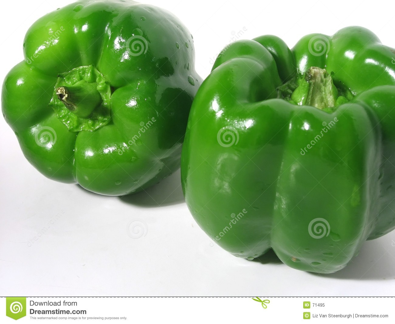 Two Green Peppers