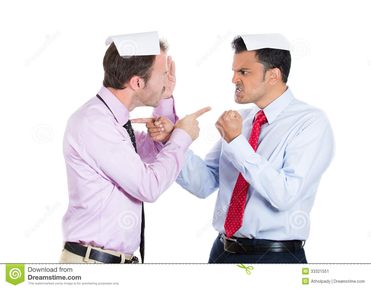 Two Guys, Businessman, A Boss And Employee, Angry Pointing ...
