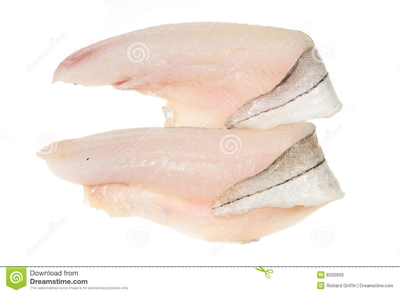 Two haddock fillets