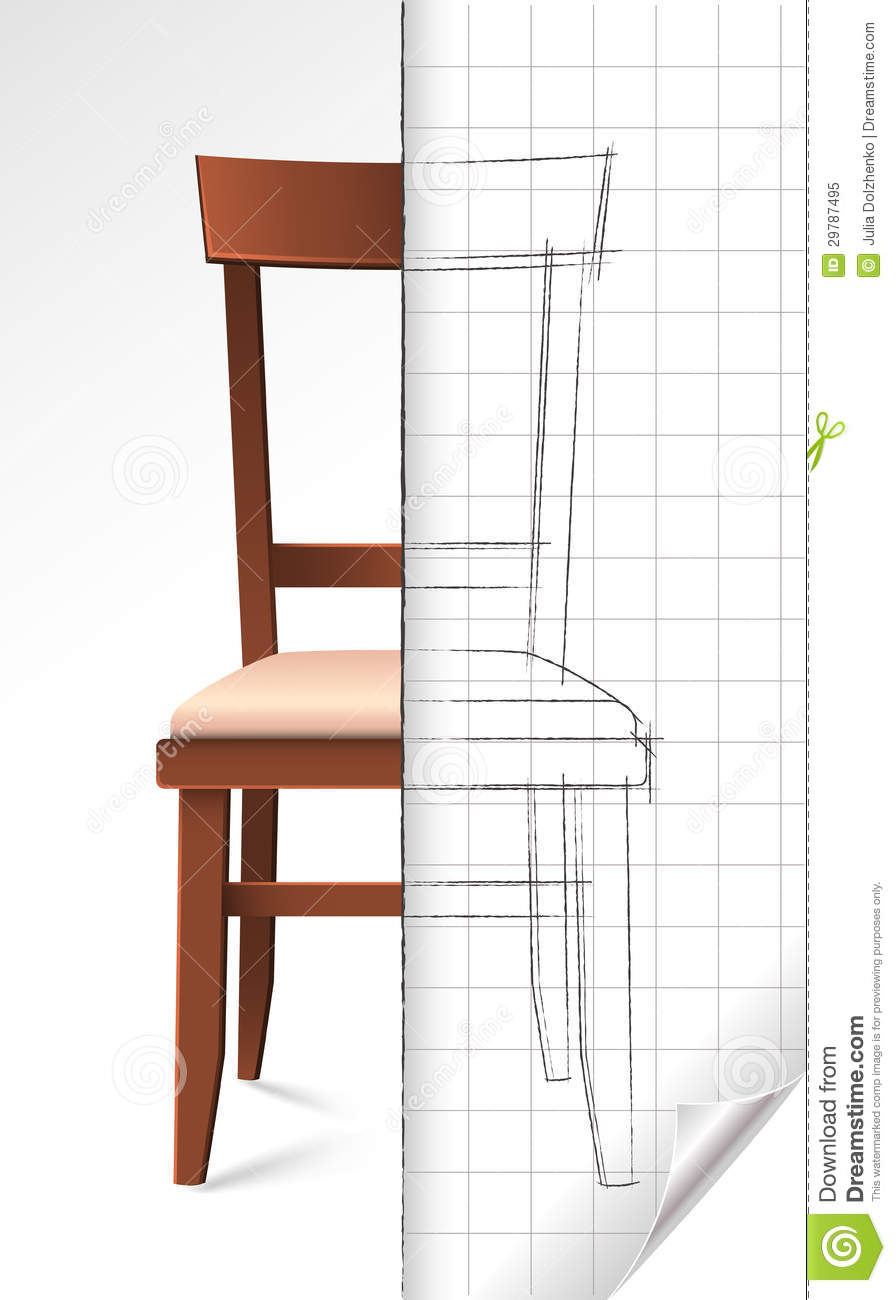 Chair Sketch Royalty Free Stock Photo - Image: 29787495