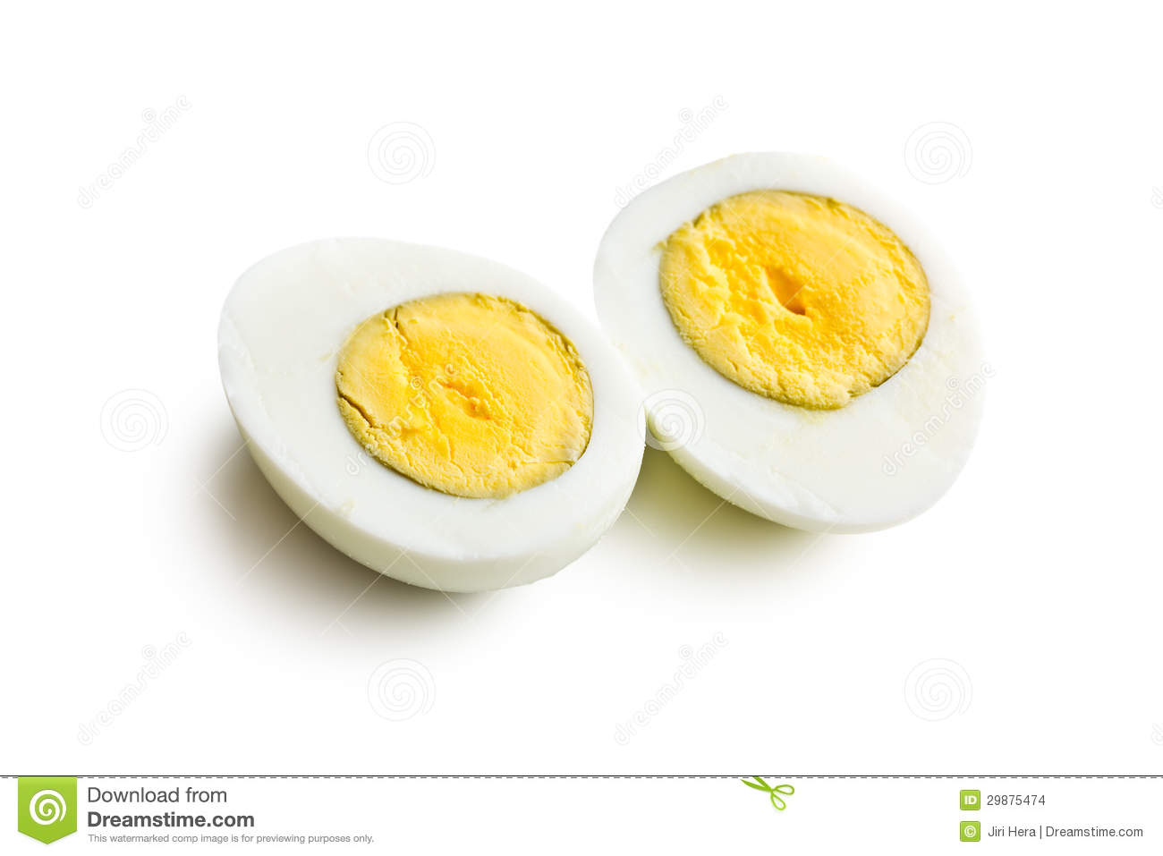 Two Halves Of A Boiled Egg Stock Images - Image: 29875474