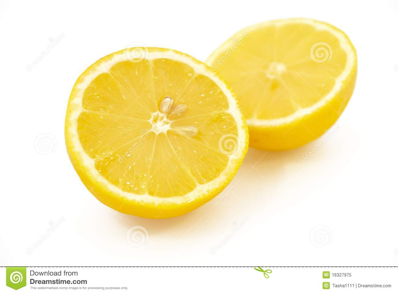 Royalty Free Stock Photo: Two halves of lemon Images - Frompo