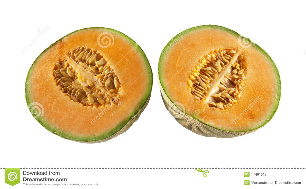 Two halves of melons