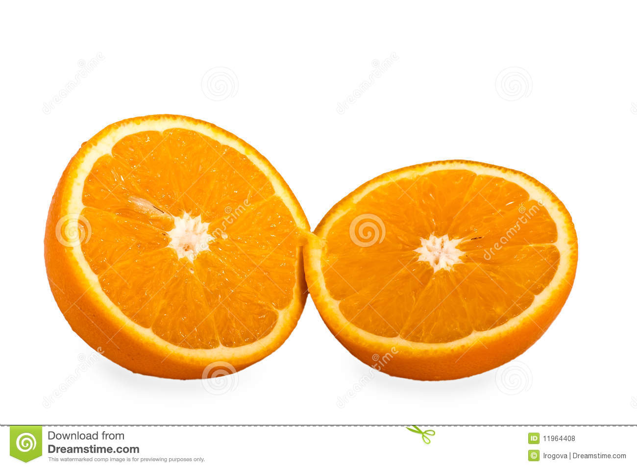 Two Halves Of An Orange Royalty Free Stock Photos - Image ...