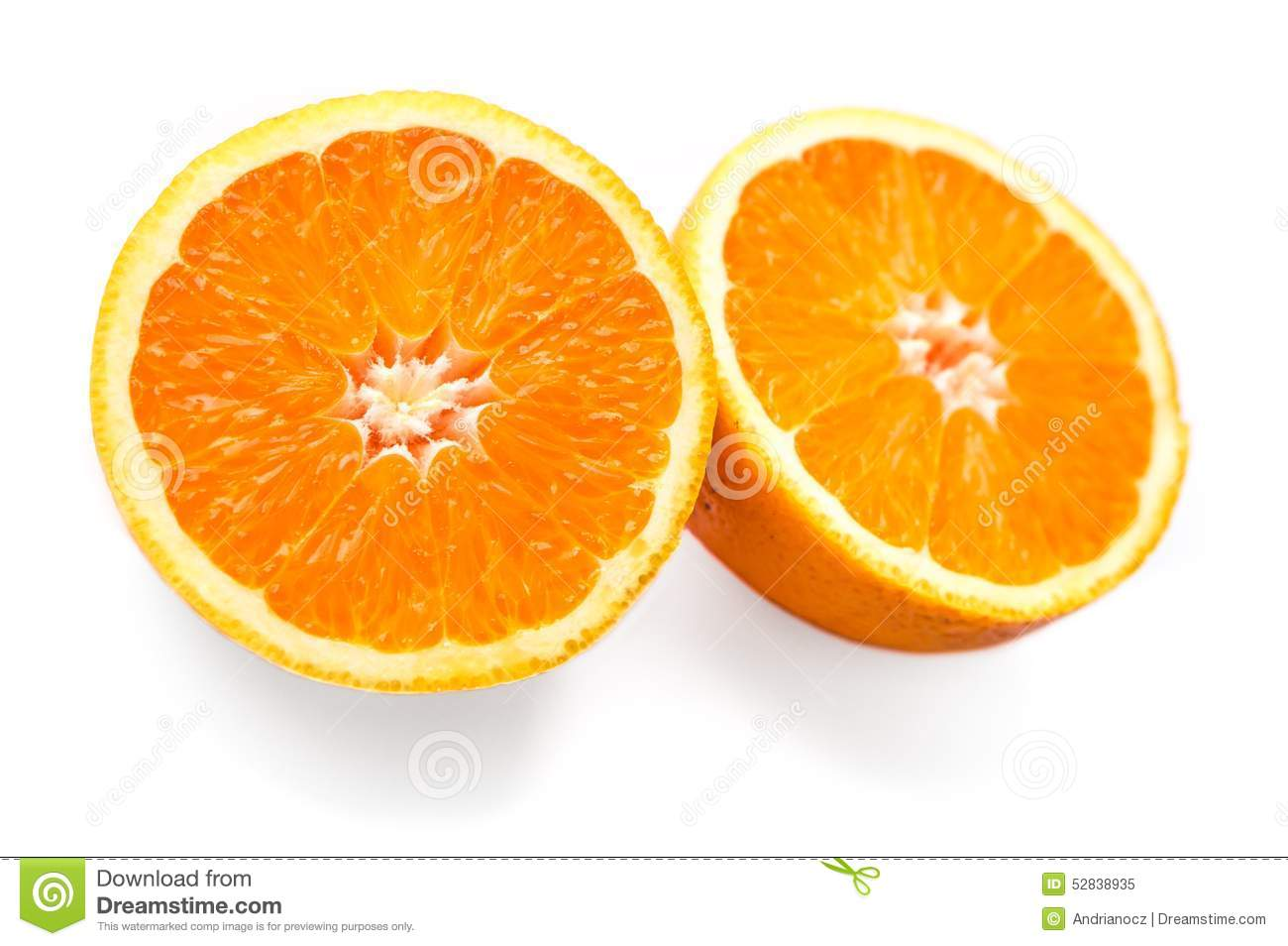 Two Halves Of Orange Stock Photo - Image: 52838935