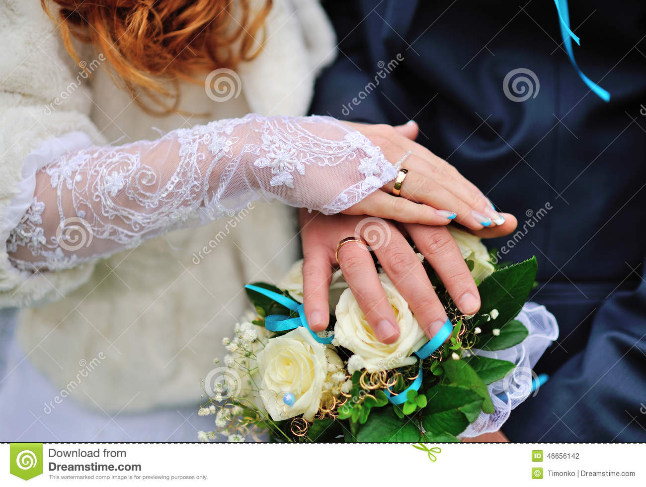 two hand with wedding ring stock photo image 46656142