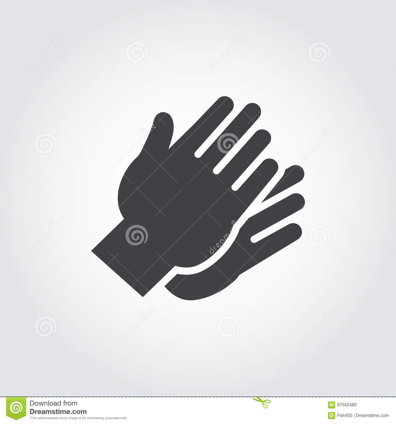 Two Hands Clapping In Flat Style Graphic Black Icon Symbol Of