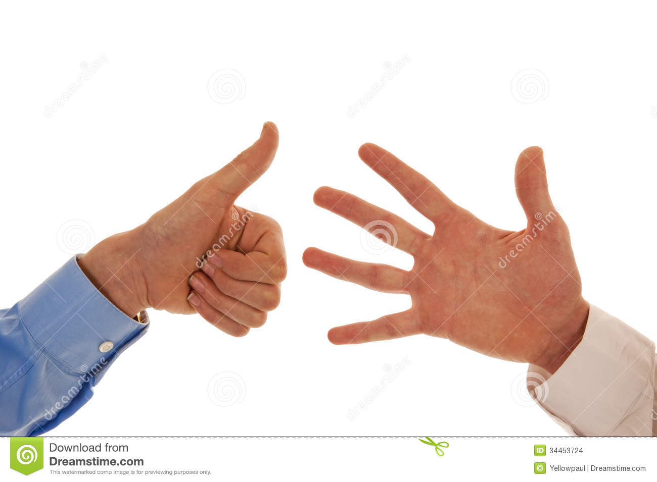 Two Hands Figuring Number Six Stock Images - Image: 34453724