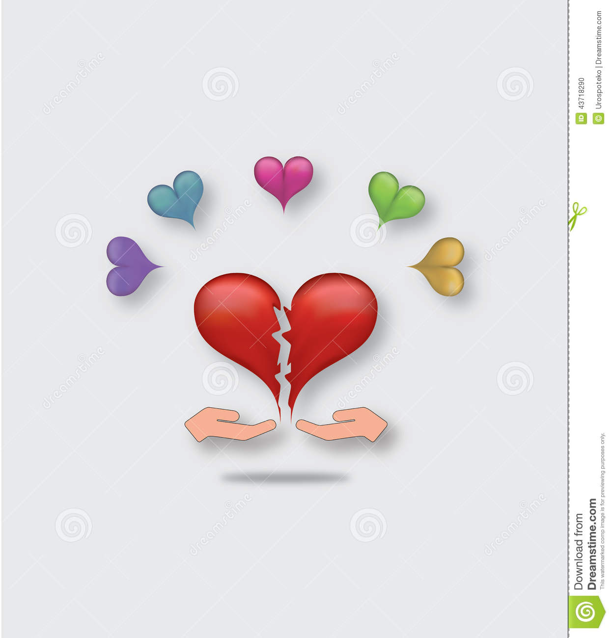 Two hands giving each other pieces of broken heart as a symbols of two hands giving each other pieces of broken heart as a symbols of reconciliation buycottarizona Choice Image