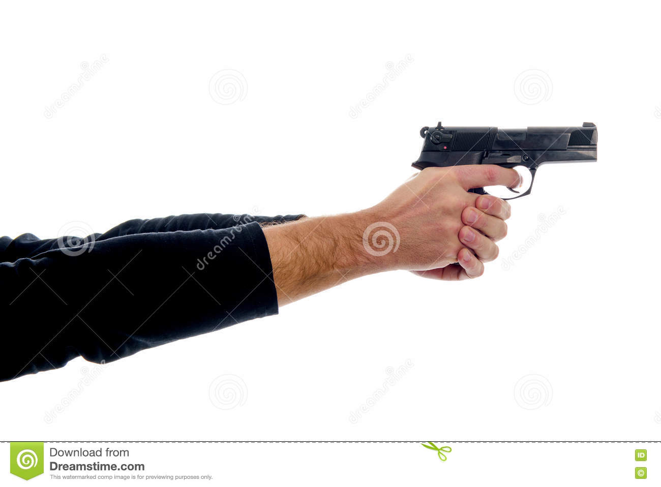 Two hands holding a gun stock photo. Image of army ...