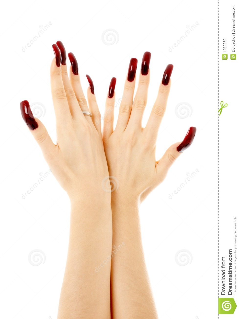 Two Hands With Long Acrylic Nails Stock Photo - Image of acrylic ...