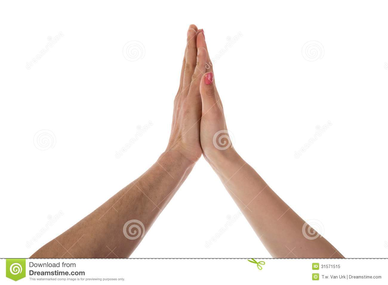 Two Hands Making A High Five Royalty Free Stock Photo