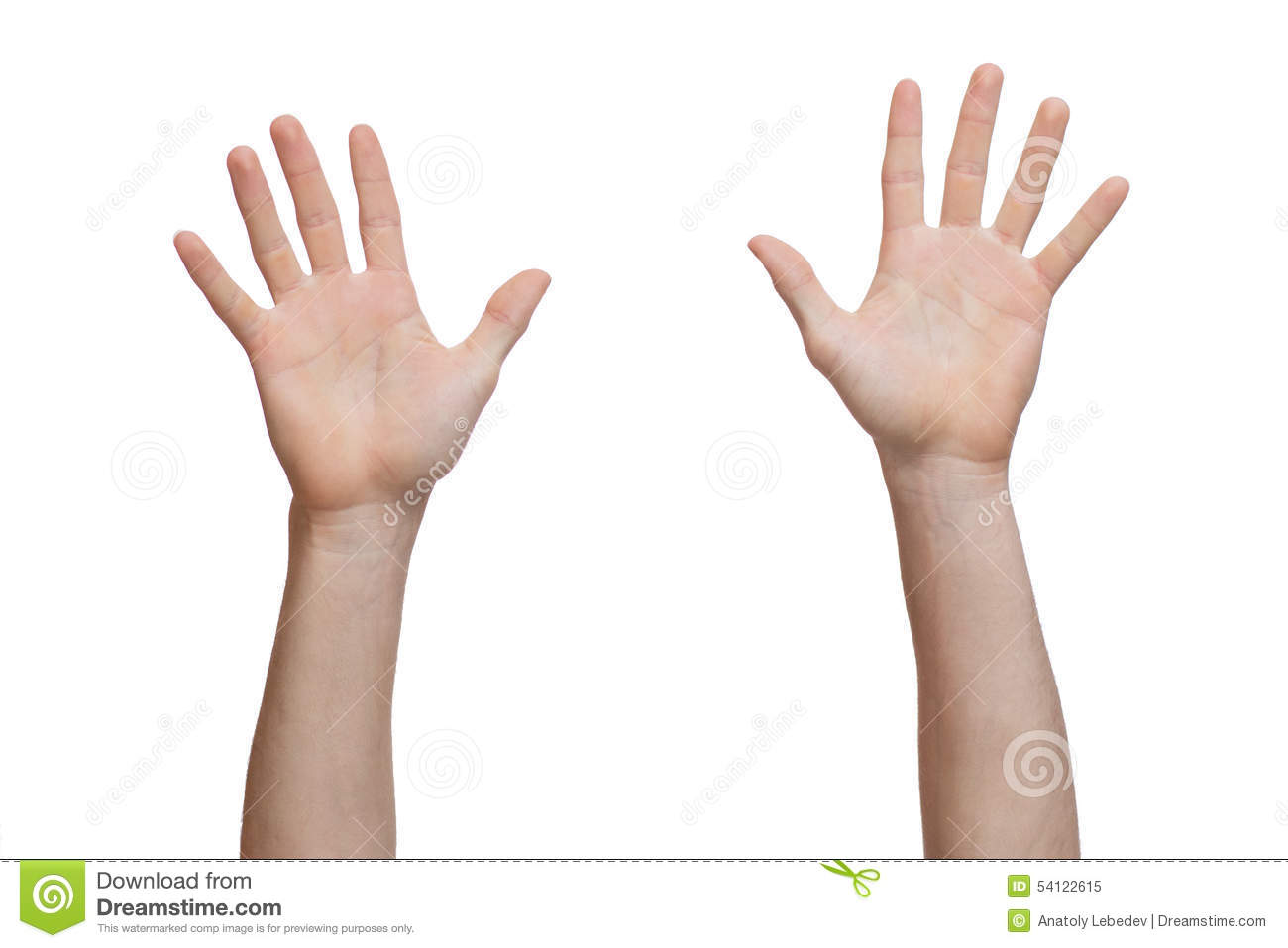 how to draw raised hand