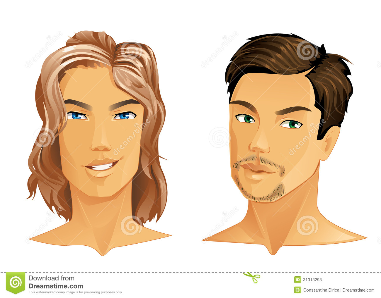 Two Handsome Men Royalty Free Stock Photos Image 31313298