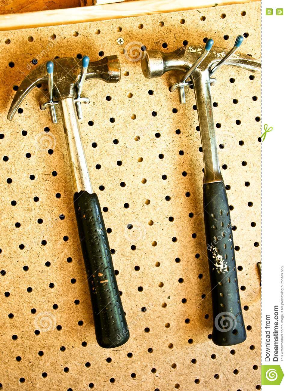 Two Hanging Hammers Royalty Free Stock Photo Image 6921625