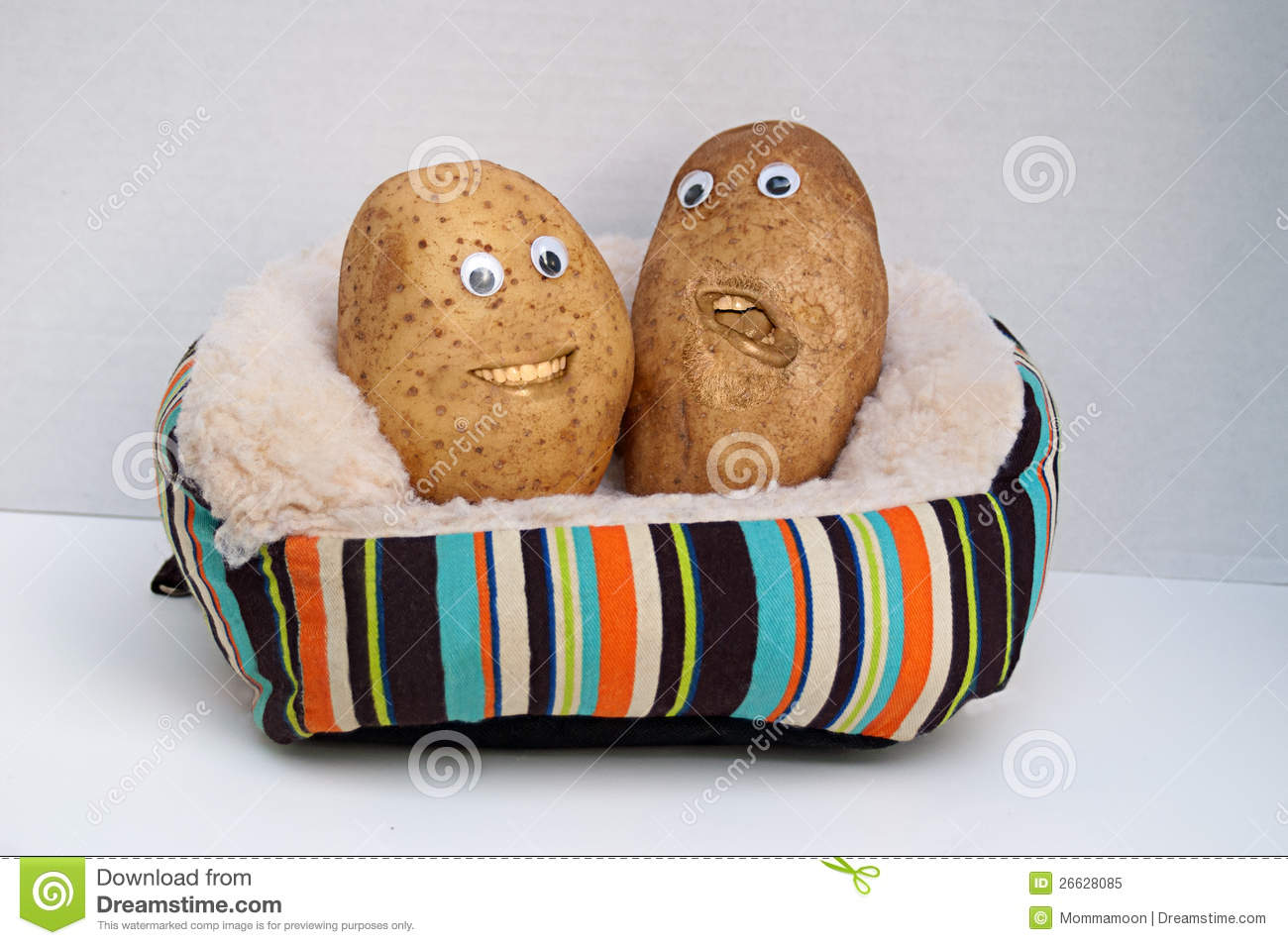 Two Happy Couch Potatoes Stock Illustration Illustration Of Crop