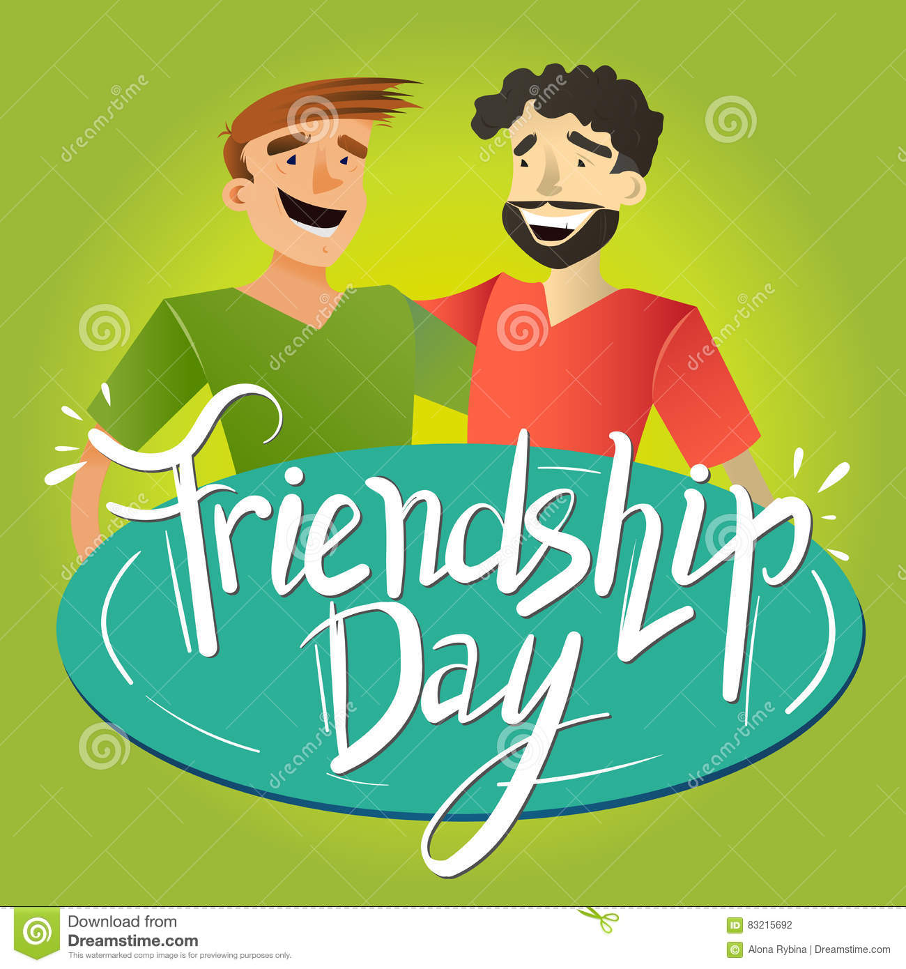 Friendship Day Poster Stock Vector