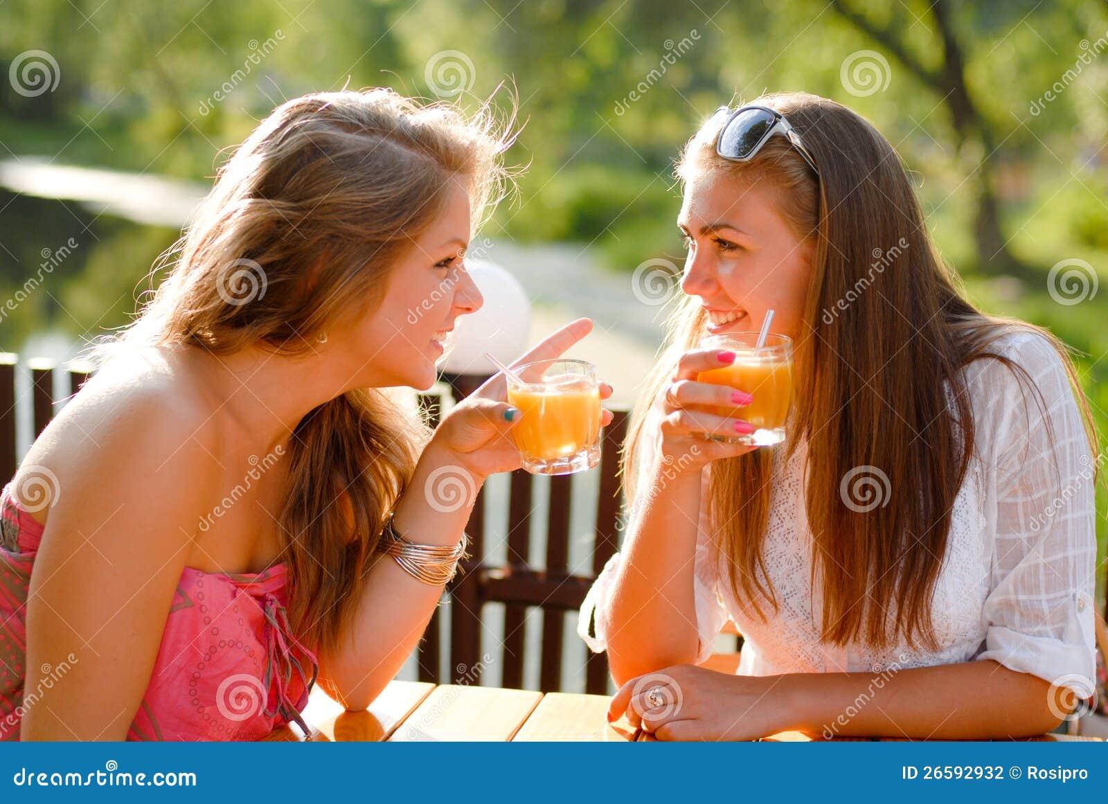 Girls chatting