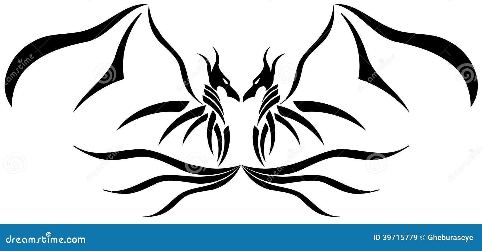 Tribal-Tattoos two-headed-dragon-tattoo-dragons-usable-tattoos-39715779