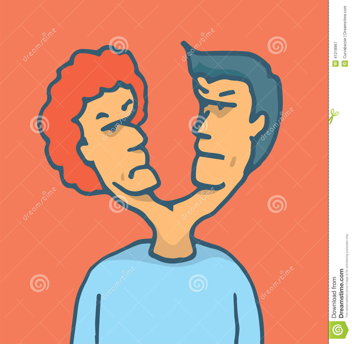 two headed man fighting stock vector image 41218967 Facebook Thumbs Up Clip Art two thumbs up clipart
