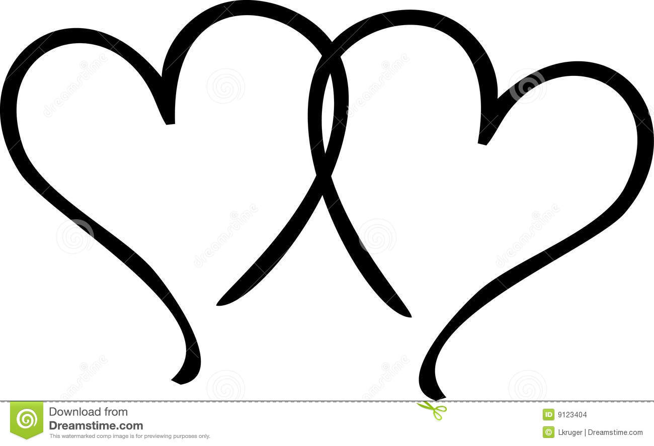 Two Hearts Stock Images Image 9123404