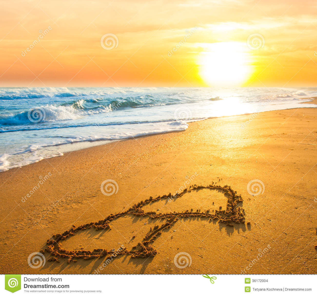 Two Hearts On Beach Sand Stock Images - Image: 36172004