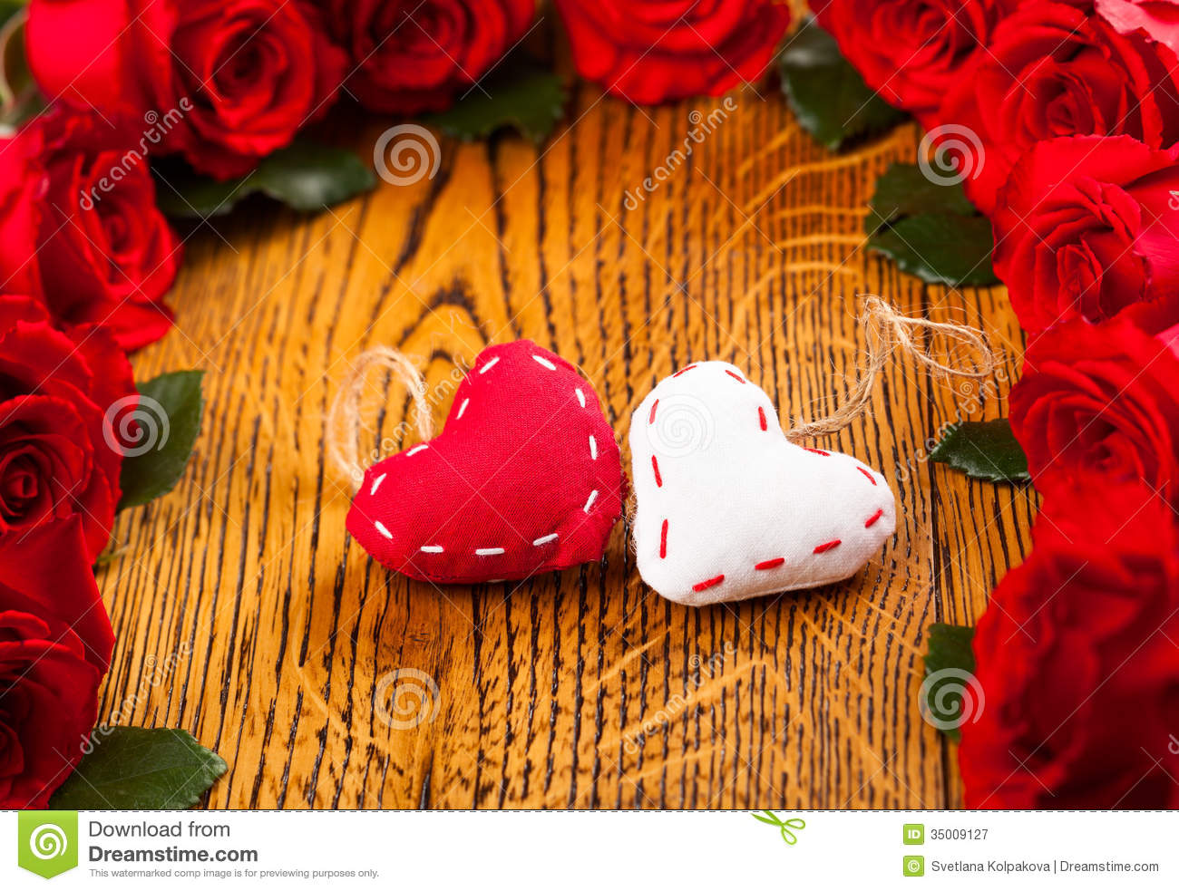 Two Hearts And Flowers Royalty Free Stock Photography - Image ...
