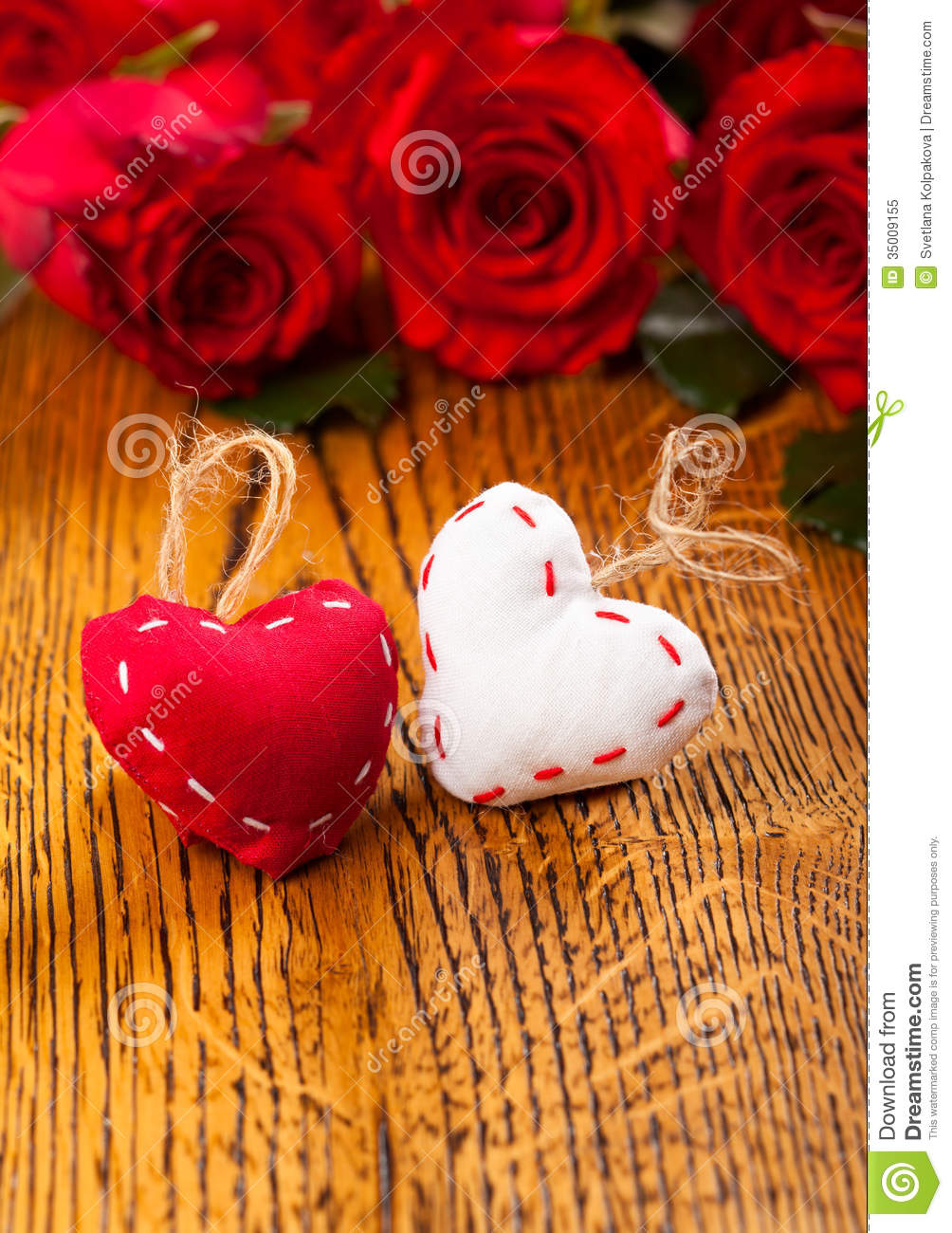 Two Hearts And Flowers Royalty Free Stock Photo - Image: 35009155