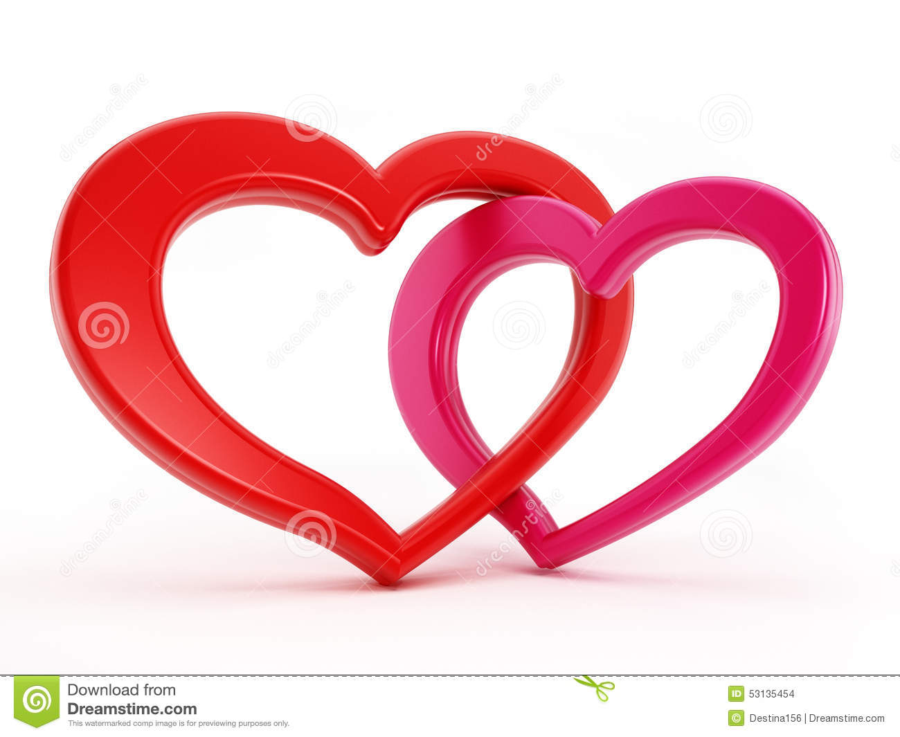Two Hearts Intertwined Stock Illustration - Image: 53135454