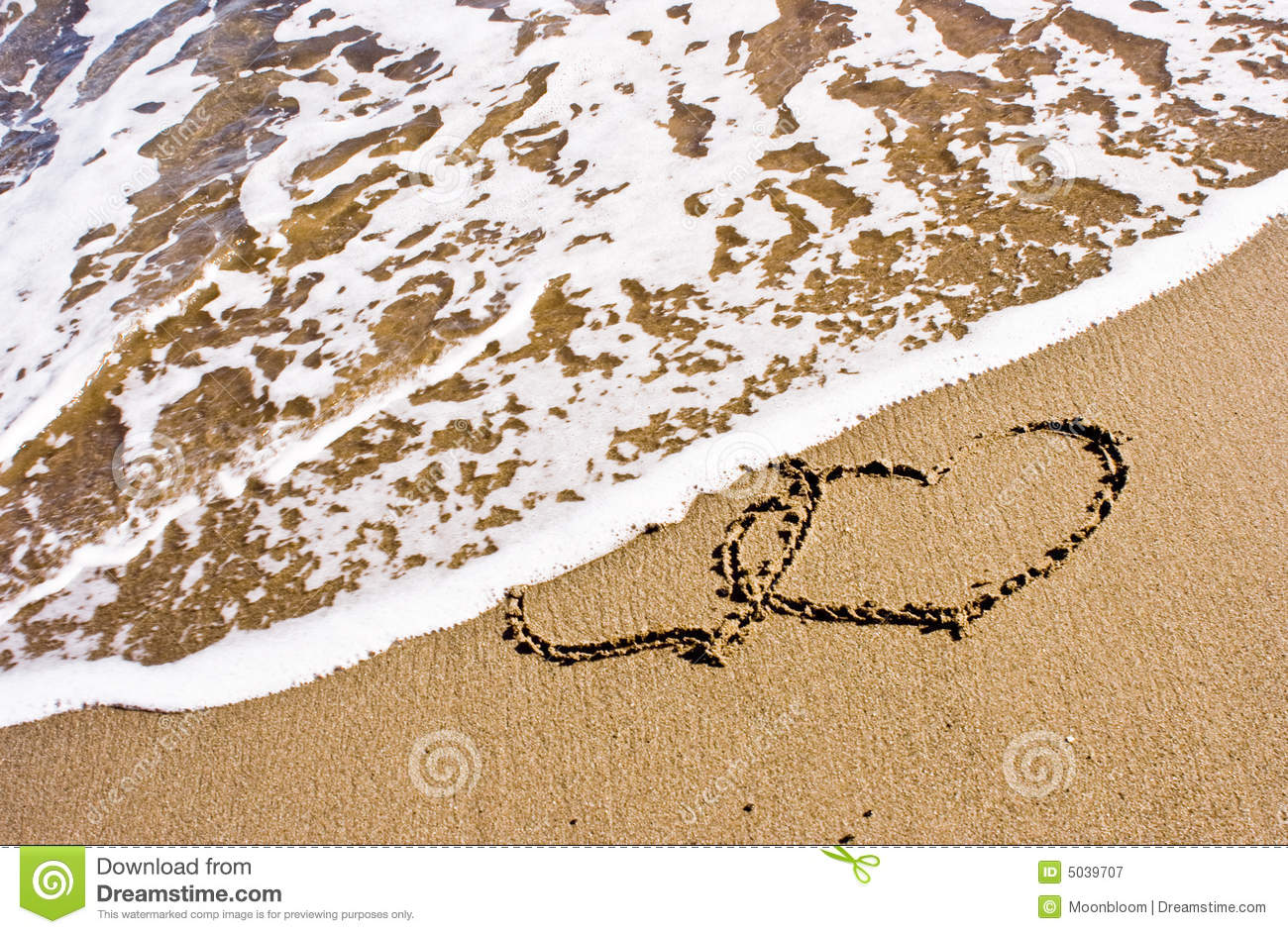 Two Hearts In The Sand Royalty Free Stock Photography ...