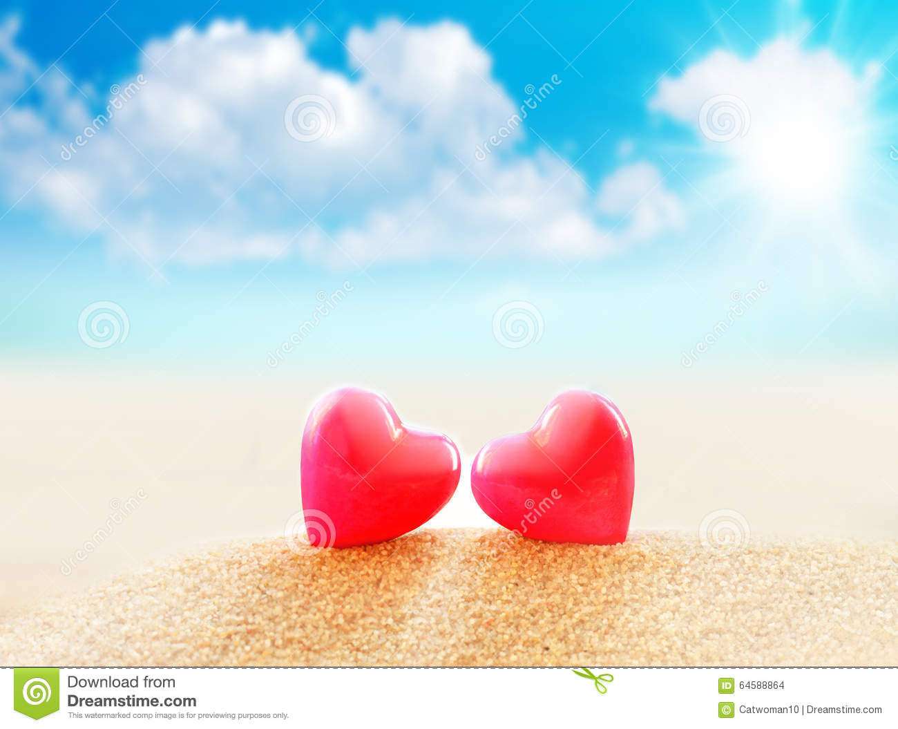 Happy Valentine S Day In The Beach Sand Stock Image Image Of