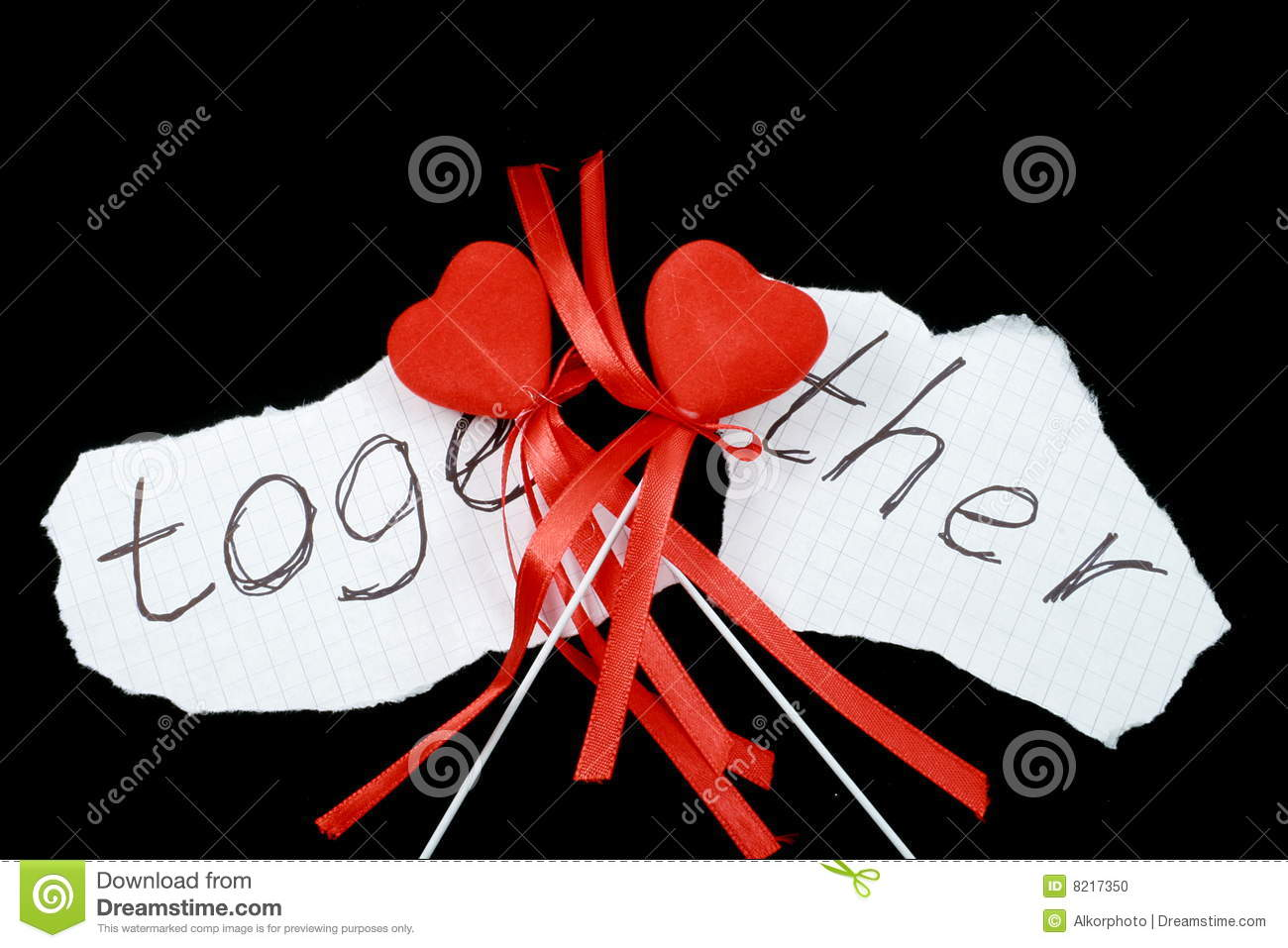 Two hearts together stock photo. Image of sadness, heart ...